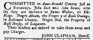 Aug 30 1770 - Maryland Gazette Slavery 2