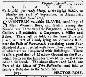 Aug 30 1770 - Maryland Gazette Slavery 3
