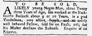Aug 30 1770 - Maryland Gazette Slavery 6