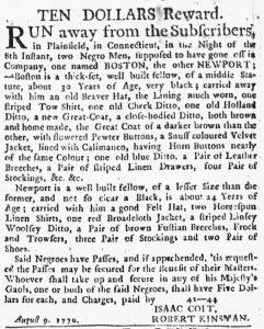 Aug 30 1770 - New-York Journal Slavery 1