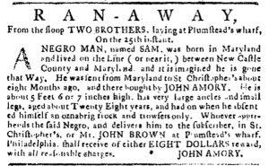 Aug 30 1770 - Pennsylvania Journal Slavery 1