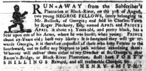 Aug 30 1770 - South-Carolina Gazette Continuation Slavery 2