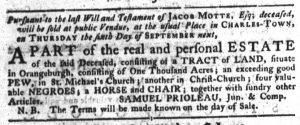 Aug 30 1770 - South-Carolina Gazette Continuation Slavery 4