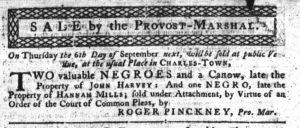 Aug 30 1770 - South-Carolina Gazette Continuation Slavery 5