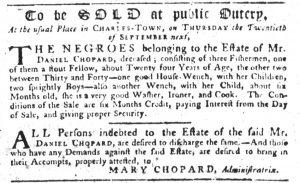 Aug 30 1770 - South-Carolina Gazette Slavery 2