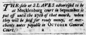Aug 30 1770 - Virginia Gazette Purdie & Dixon Slavery 1