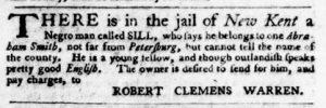 Aug 30 1770 - Virginia Gazette Purdie & Dixon Slavery 6