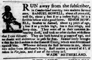 Aug 30 1770 - Virginia Gazette Purdie & Dixon Slavery 7