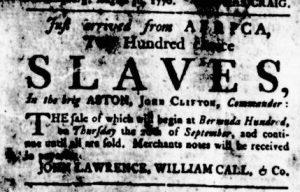 Aug 30 1770 - Virginia Gazette Rind Slavery 1