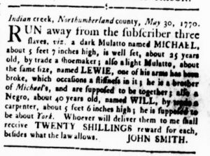 Aug 30 1770 - Virginia Gazette Rind Slavery 12