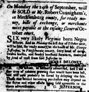Aug 30 1770 - Virginia Gazette Rind Slavery 2