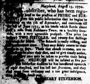 Aug 30 1770 - Virginia Gazette Rind Slavery 3