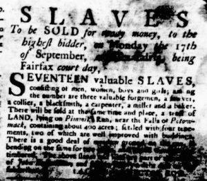 Aug 30 1770 - Virginia Gazette Rind Slavery 6