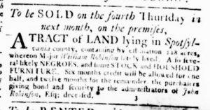 Aug 30 1770 - Virginia Gazette Rind Slavery 8