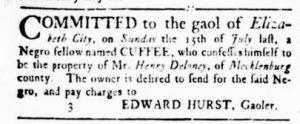 Aug 30 1770 - Virginia Gazette Rind Slavery 9