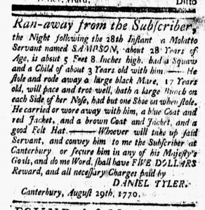 Aug 31 1770 - New-London Gazette Slavery 1