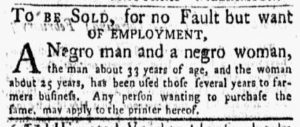 Mar 12 1770 - New-York Gazette and Weekly Mercury Slavery 1