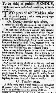 Mar 12 1770 - New-York Gazette and Weekly Mercury Slavery 4