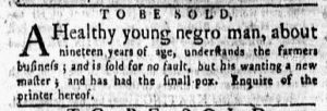 Mar 12 1770 - New-York Gazette and Weekly Mercury Slavery 5