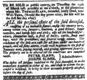 Mar 13 1770 - South-Carolina Gazette and Country Journal Slavery 6