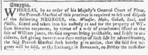 Mar 14 1770 - Georgia Gazette Slavery 2