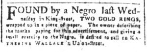 Mar 16 1770 - South-Carolina and American General Gazette Supplement Slavery 1