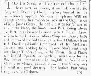 Mar 17 - 3:17:1770 Providence Gazette