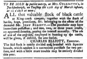 Mar 20 1770 - South-Carolina Gazette and Country Journal Slavery 1