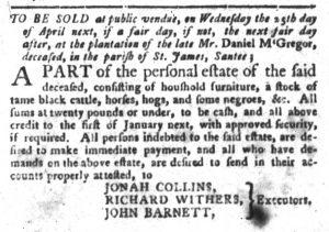 Mar 20 1770 - South-Carolina Gazette and Country Journal Slavery 2
