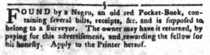 Mar 20 1770 - South-Carolina Gazette and Country Journal Slavery 6