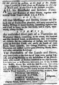 Mar 20 1770 - South-Carolina Gazette and Country Journal Slavery 7
