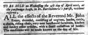 Mar 20 1770 - South-Carolina Gazette and Country Journal Slavery 8
