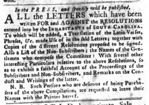 Mar 20 - 3:20:1770 South-Carolina Gazette and Country Journal