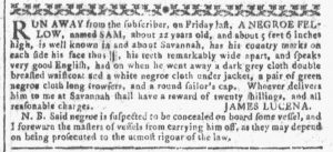 Mar 21 1770 - Georgia Gazette Slavery 3