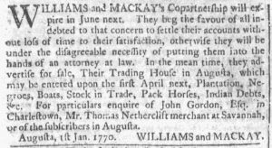 Mar 21 1770 - Georgia Gazette Slavery 4
