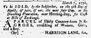 Mar 22 1770 - Maryland Gazette Slavery 2