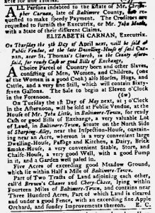 Mar 22 1770 - Maryland Gazette Slavery 3