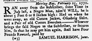 Mar 22 1770 - Maryland Gazette Slavery 4