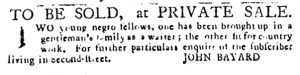 Mar 22 1770 - Pennsylvania Journal Slavery 1
