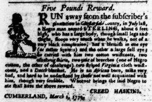 Mar 22 1770 - Virginia Gazette Purdie & Dixon Slavery 5