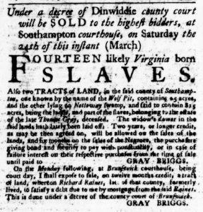 Mar 22 1770 - Virginia Gazette Purdie & Dixon Slavery 7