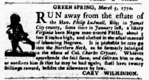Mar 22 1770 - Virginia Gazette Purdie & Dixon Slavery 8