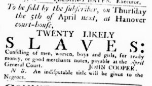 Mar 22 1770 - Virginia Gazette Rind Slavery 2