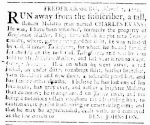 Mar 22 1770 - Virginia Gazette Supplement Rind Slavery 1