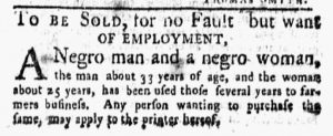 Mar 26 1770 - New-York Gazette and Weekly Mercury Slavery 1