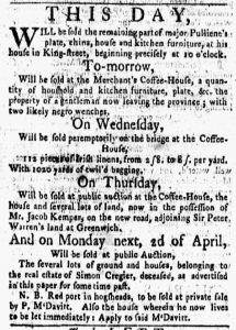 Mar 26 1770 - New-York Gazette and Weekly Mercury Slavery 2
