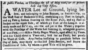 Mar 26 1770 - New-York Gazette or Weekly Post-Boy Slavery 1