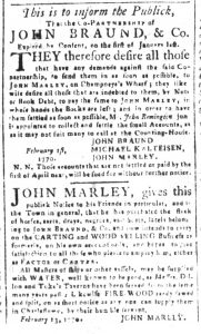 Mar 26 1770 - South-Carolina and American General Gazette Slavery 7