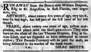 Mar 27 1770 - South-Carolina Gazette and Country Journal Slavery 7