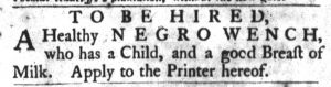 Mar 27 1770 - South-Carolina Gazette and Country Journal Slavery 9